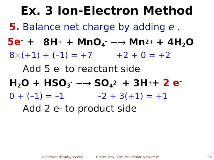 Chapter 6: Oxidation-Reduction Reactions Chemistry: The ...